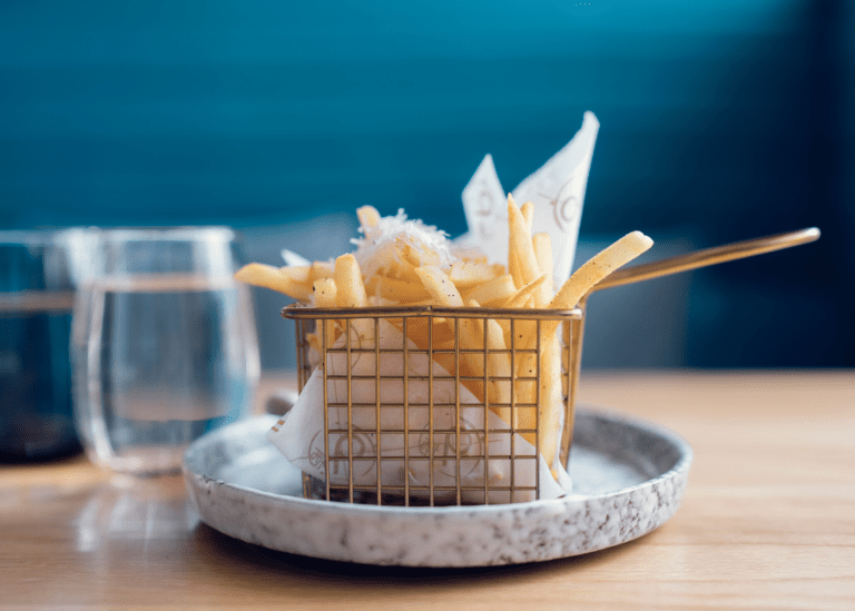 Can't say no to truffle fries? Snack on these plates piled high with chips