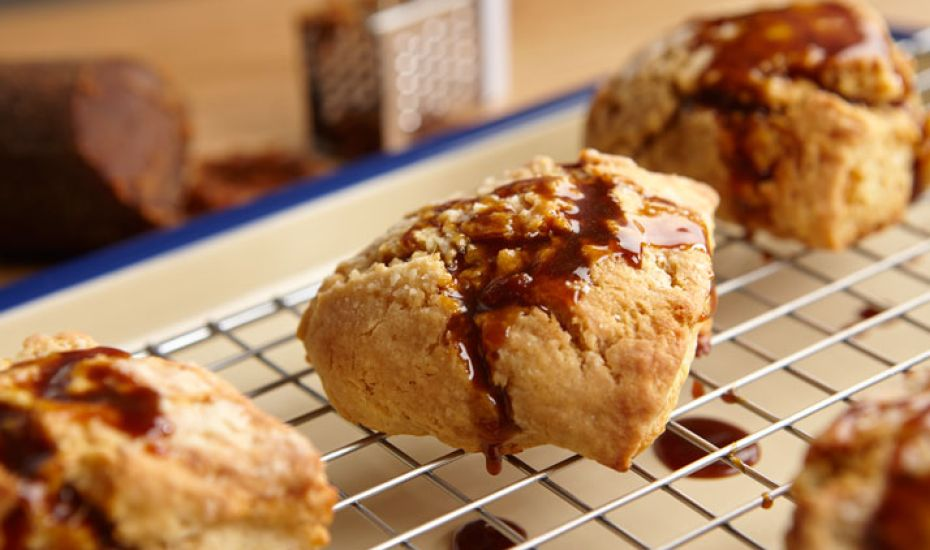 No need for clotted cream on this one - these Gula Melaksa scones are richly flavoured enough