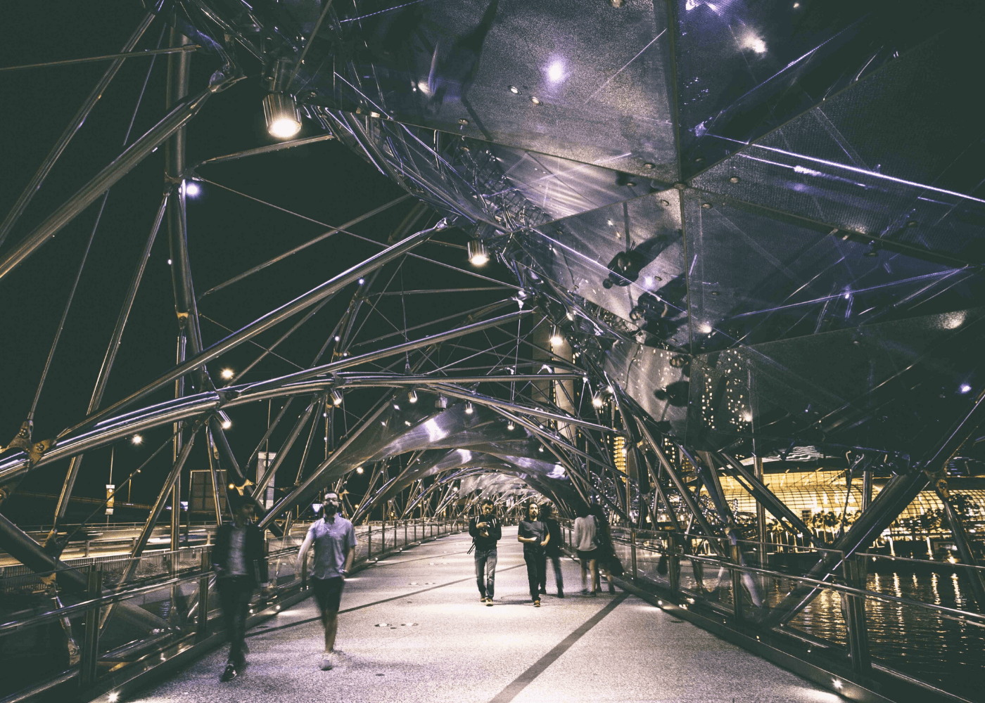 Helix Bridge | Things to do at night in Singapore