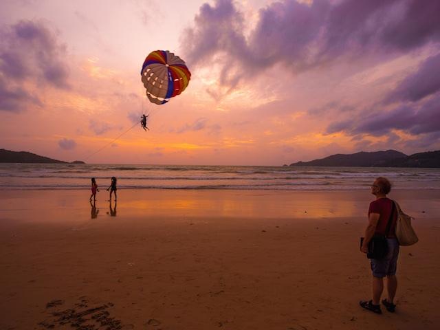 Phuket's beaches offer stunning sunsets. (Credit: PETER CARTLEDGE)