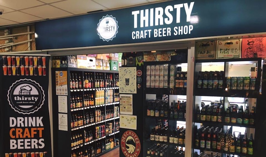 Way More Than 99 Bottles Of Beer On The Wall At Thirsty Craft Shop