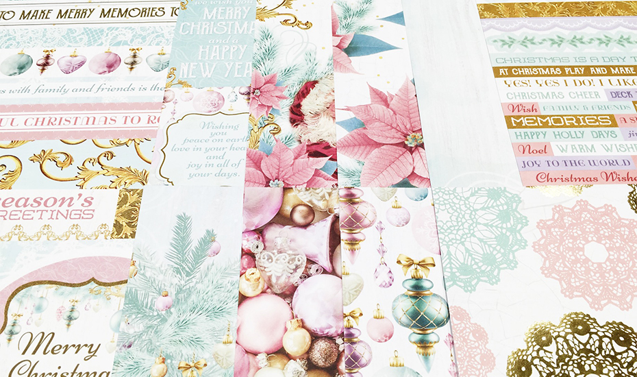 Beautiful seasonal patterned papers and cardstock stickers at Made With Love (Credit: Made With Love)