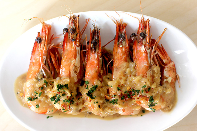 Delicacy's delightful prawns with chili soya cream sauce