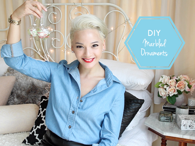 Christmas DIY video: Celeb Simone Heng shows how to make beautiful marble-effect tree baubles