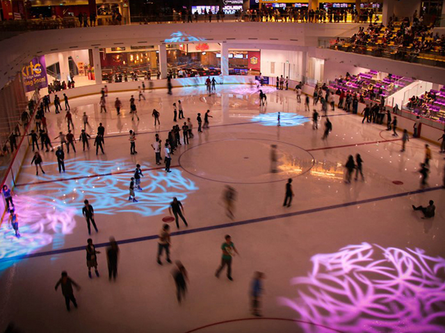 Disco night at the ice rink in JCUBE
