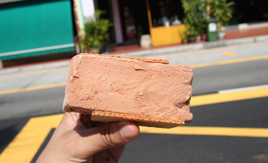 Ice cream sandwiches and cold desserts are great all year round in Singapore!