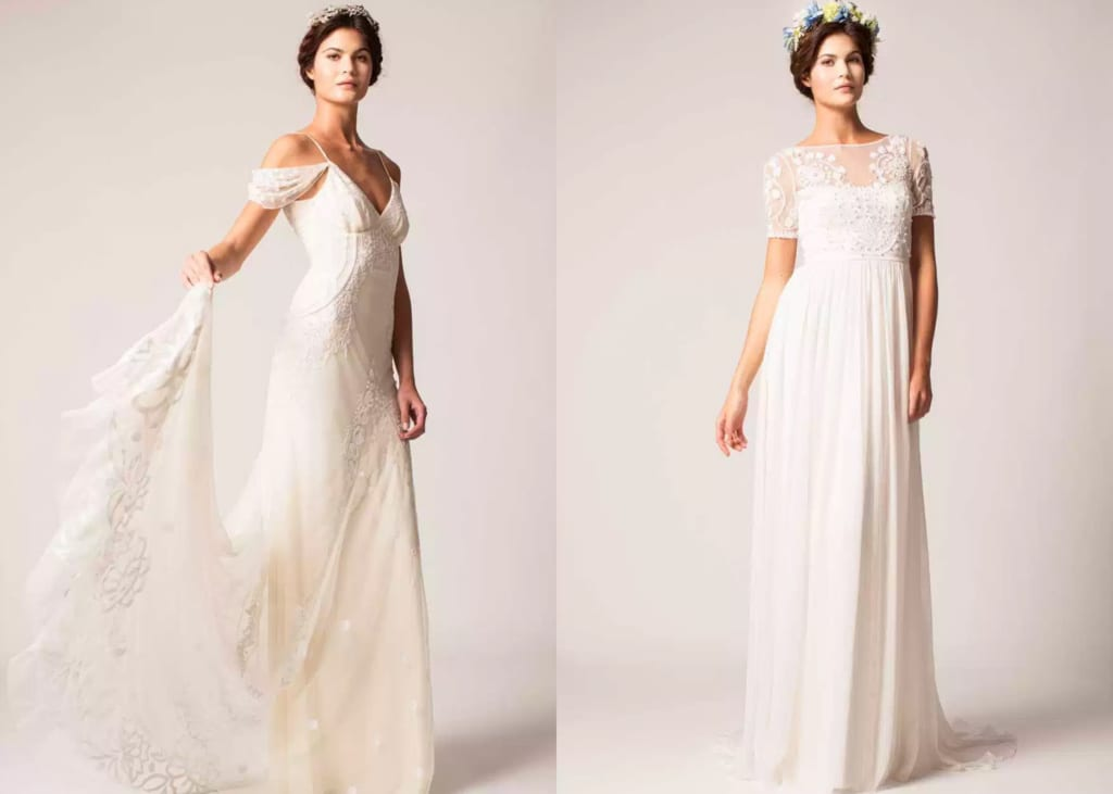 Beach-style wedding gowns: Where to buy