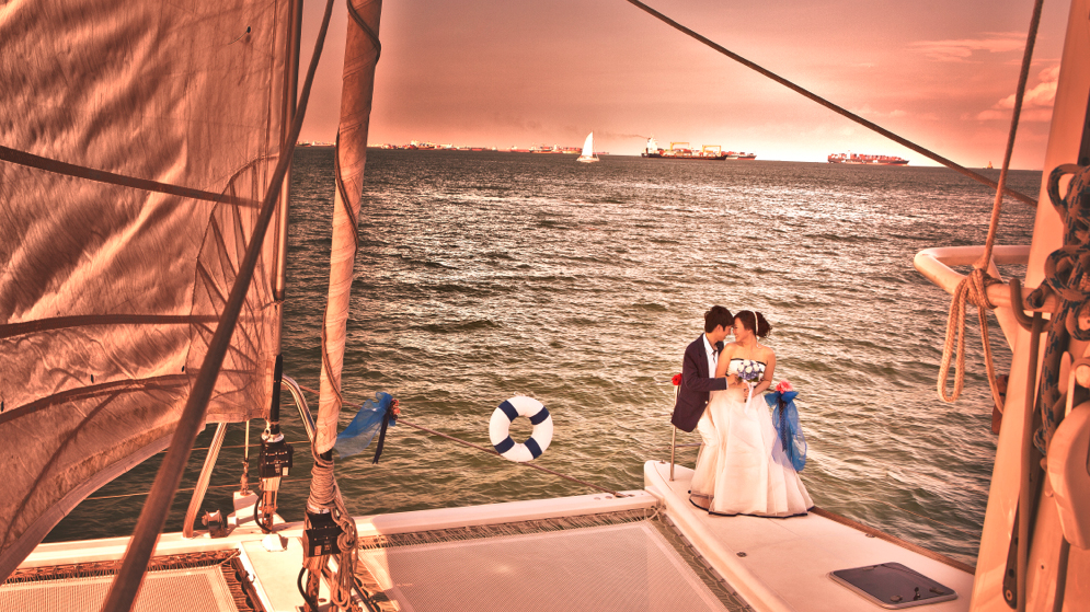 Yacht Weddings In Singapore Where To Hire A Boat For A Sea