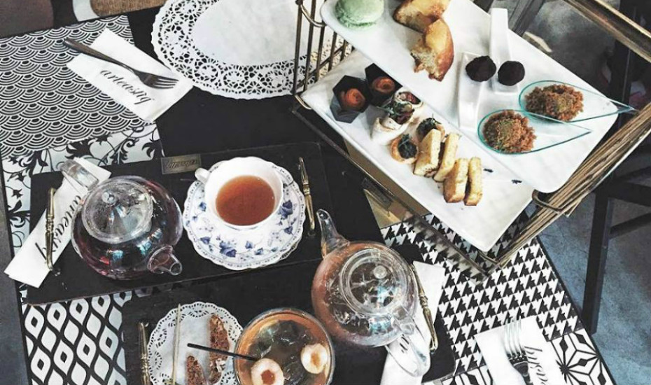 Arteastiq's Double Teasery High Tea spread. Photo: @fionquak on Instagram