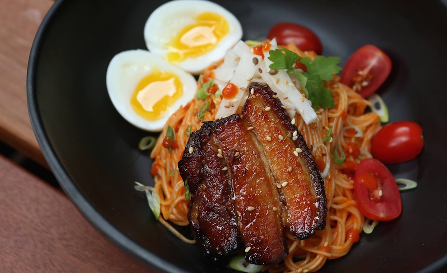 Pork belly bibim guksu chow fun (Photo credit: Chow Fun Bar & Restaurant via Facebook)