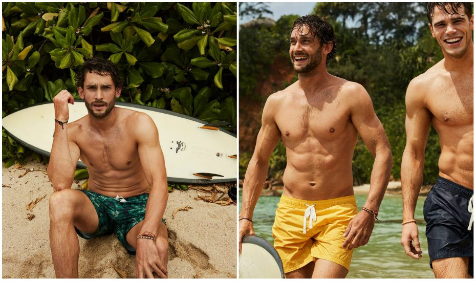 Make a splash with stylish trunks, boardshorts and beachwear for men