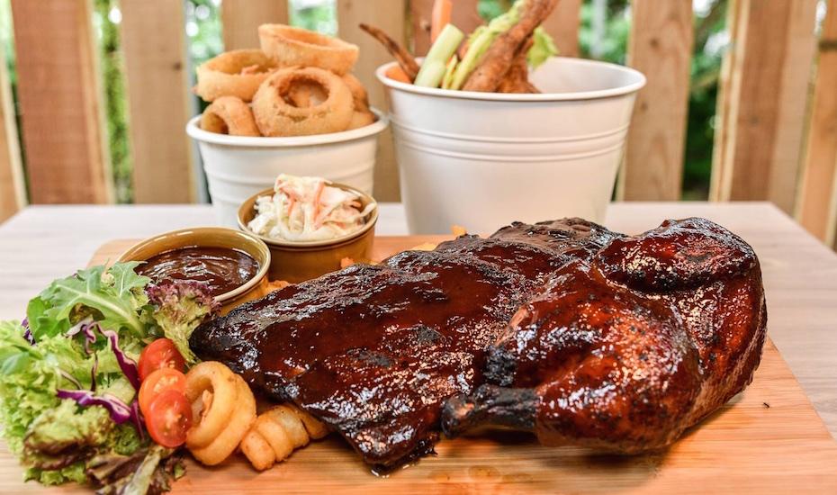 Barbecued meat galore at Angels N' Cowboys (via Facebook)
