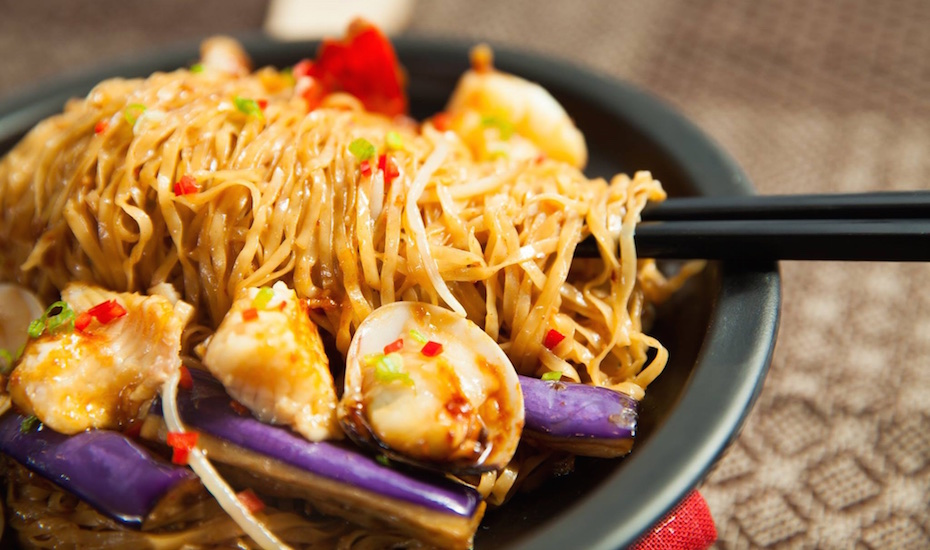 Braised noodle with seafood in XO sauce (Photo credit: The Catch Seafood Restaurant & Bar)