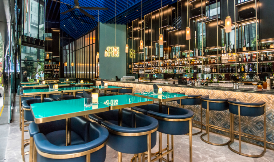 Gin bars in Singapore: A review of Cin Cin at Tanjong Pagar in Oasia Hotel Downtown