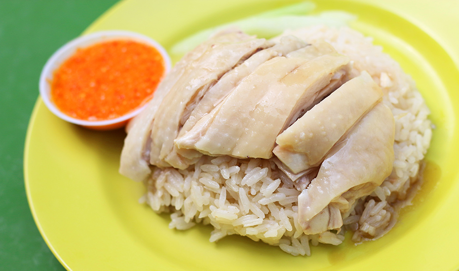 Simple and uncomplicated, chicken rice trumps every food list here.