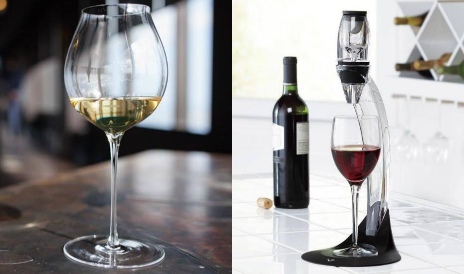 Plumm stemware   Vinturi wine aerator