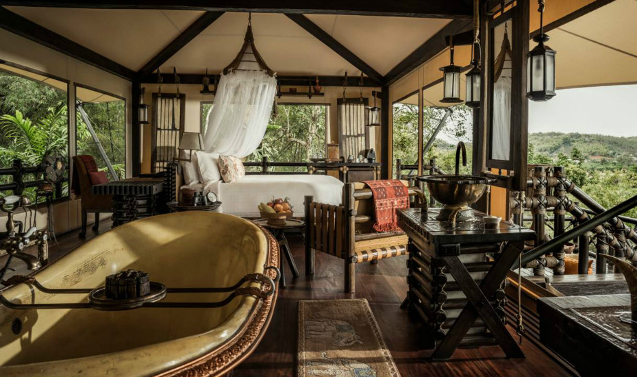Luxury hotels in Southeast Asia: Four Seasons Tented Camp Golden Triangle, Chiang Rai