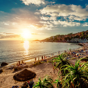 Ibiza baby! Sun, sand, and surf all the way