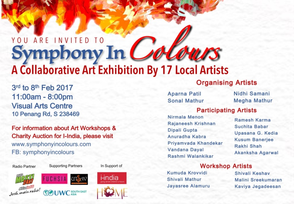 Symphony in Colours – A Collaborative Art Exhibition by 17 Local Artists