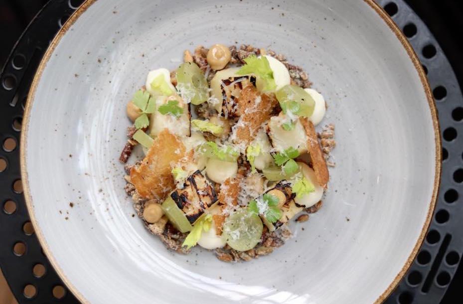 Vegetarian and vegan restaurants in Singapore: Salt baked celeriac from Pollen