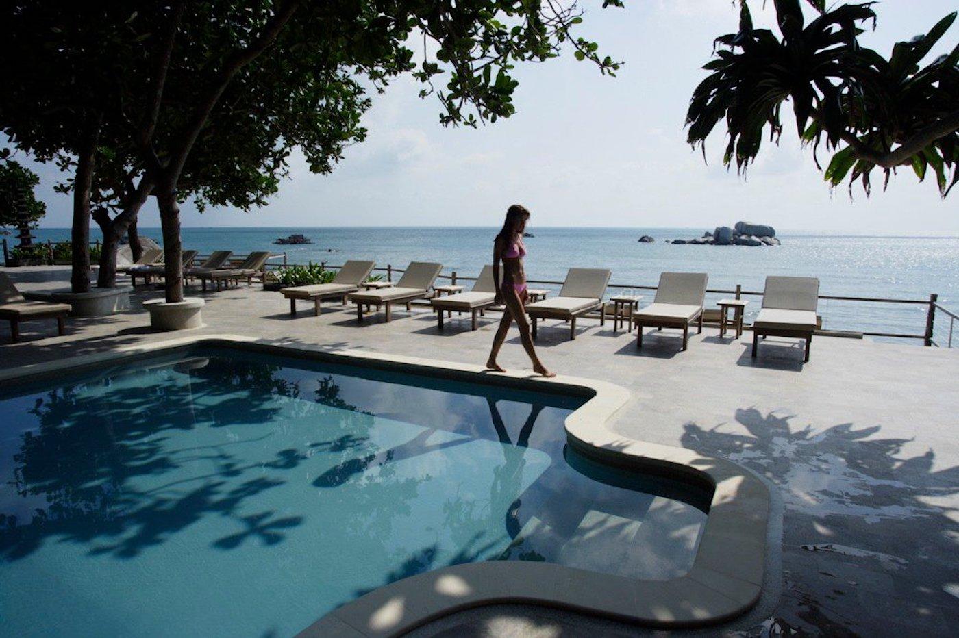 Best Bintan resorts: Outdoor pool at luxury eco resort Nikoi Private Island