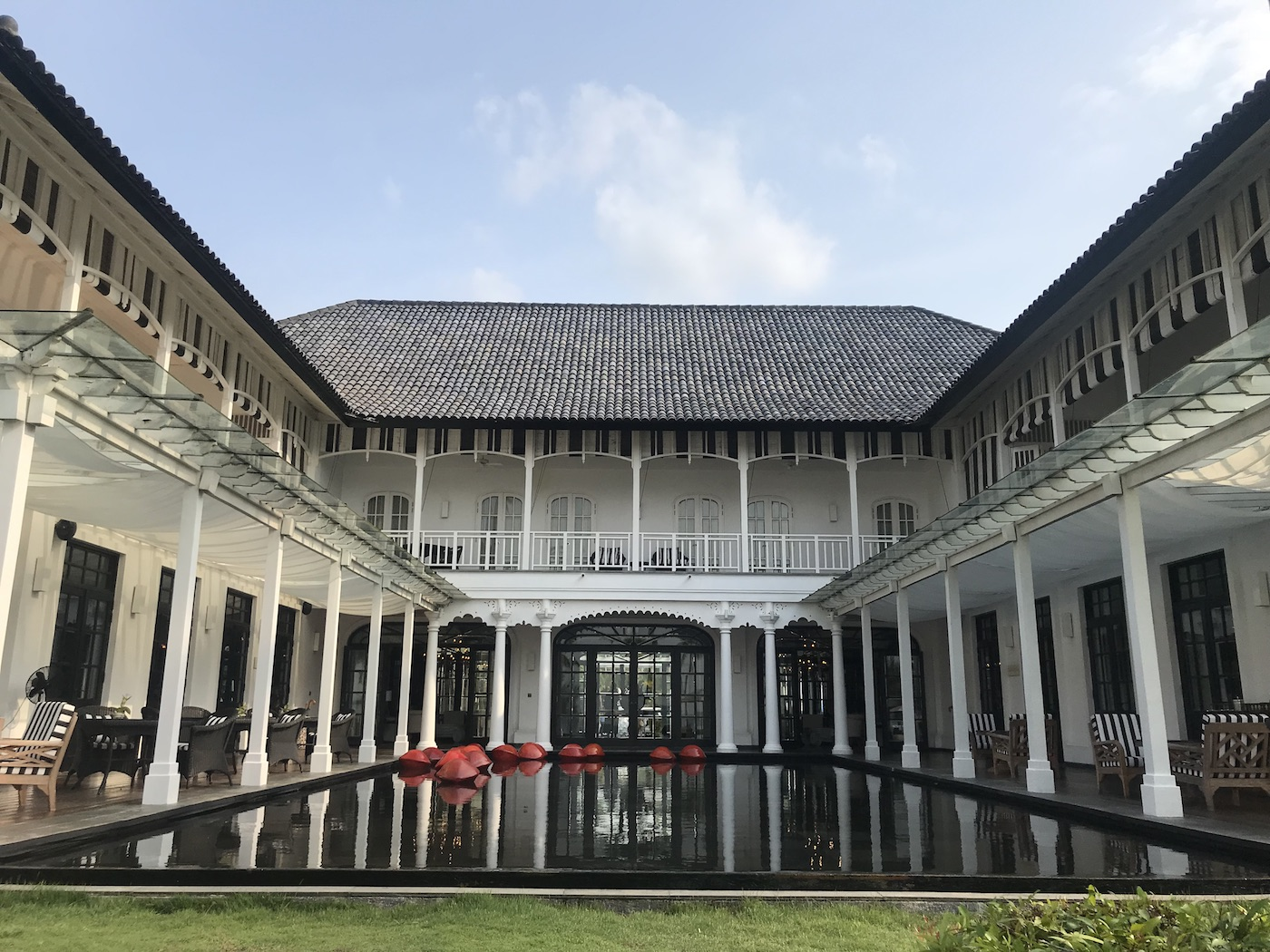 Best Bintan resorts: black and white colonial style at The Sanchaya