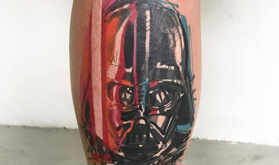 Tattoo studios in Singapore: Imagine Tattooing Darth Vader design