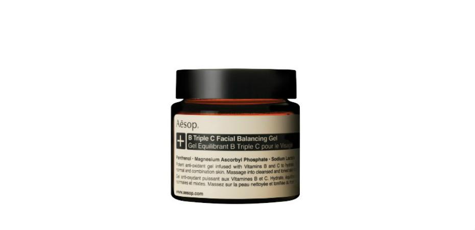 Aesop B Triple C Facial Balancing Gel | Best face moisturisers for Singapore weather