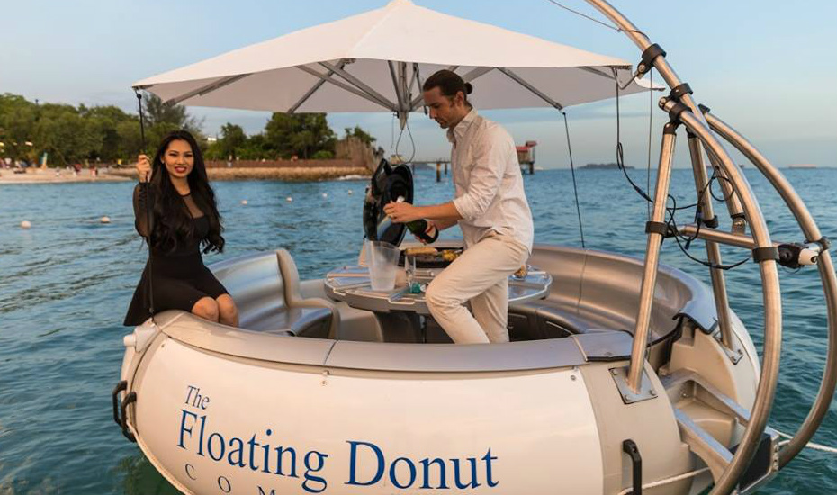 Boat parties in Singapore: Donut boats from The Floating Donut Company  takes your BBQ out to sea