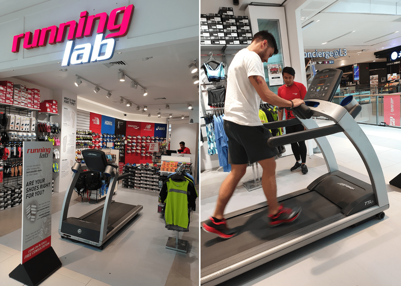 Running shoes in Singapore: Running Lab