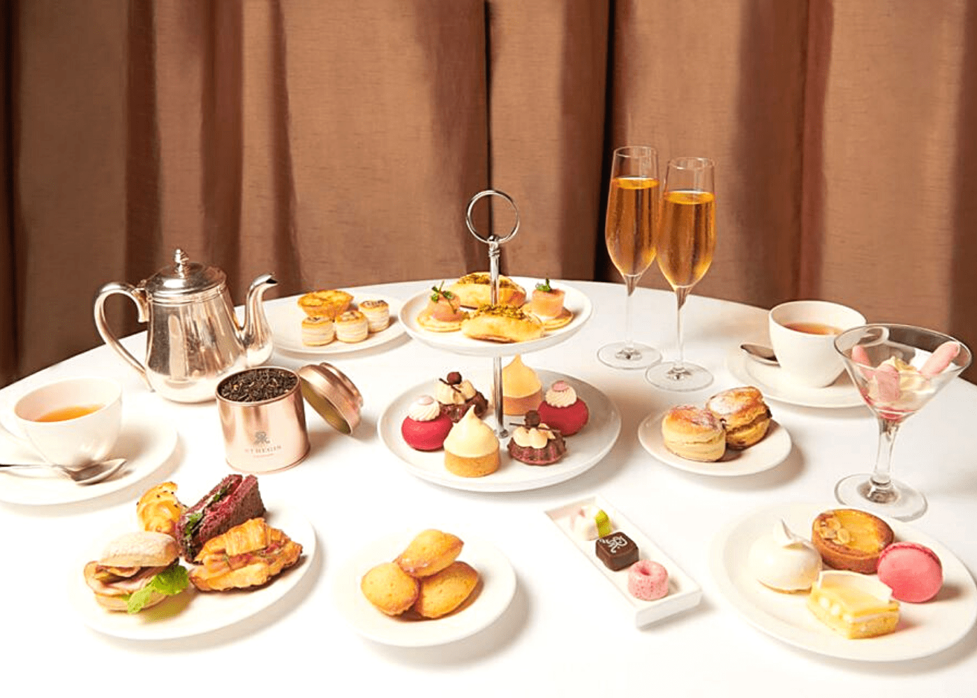 Afternoon tea set at Brasserie Les Saveurs