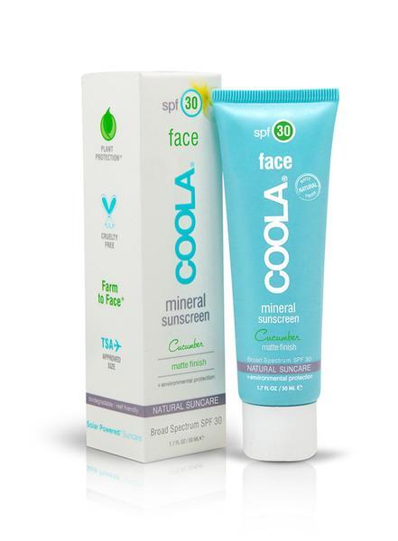 Sunscreens 101: Coola Face SPF 30 Face Mineral Sunscreen Matte Finish SPF 30 Cucumber