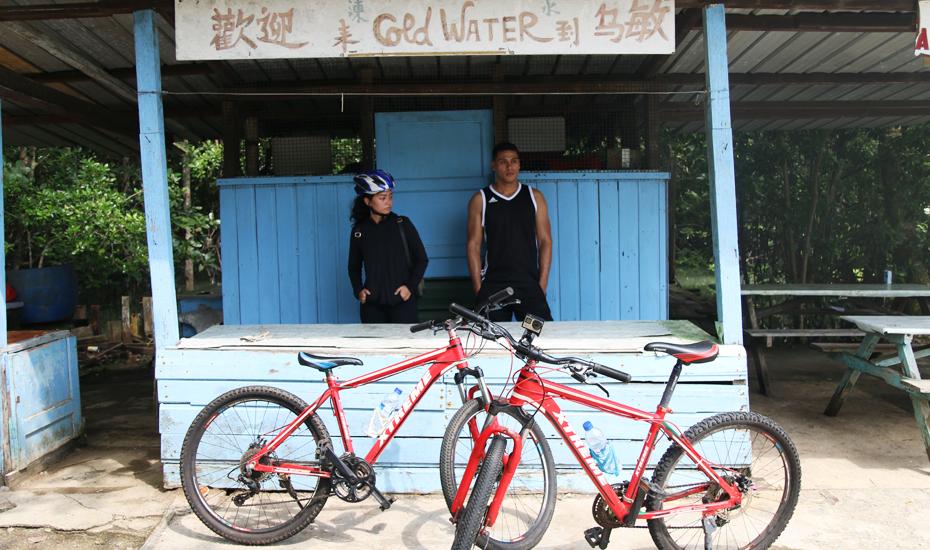 Cycling in Pulau Ubin, Singapore