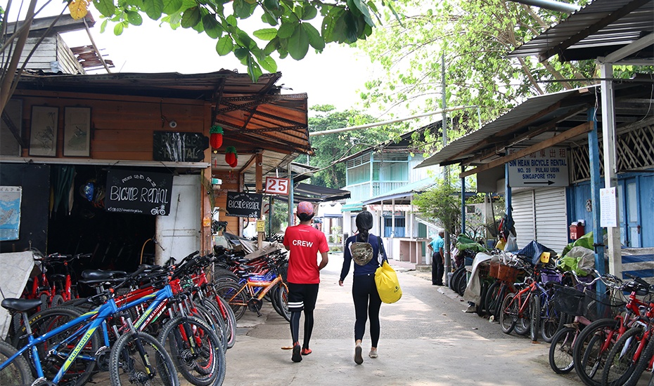 Cycling in Pulau Ubin, Singapore