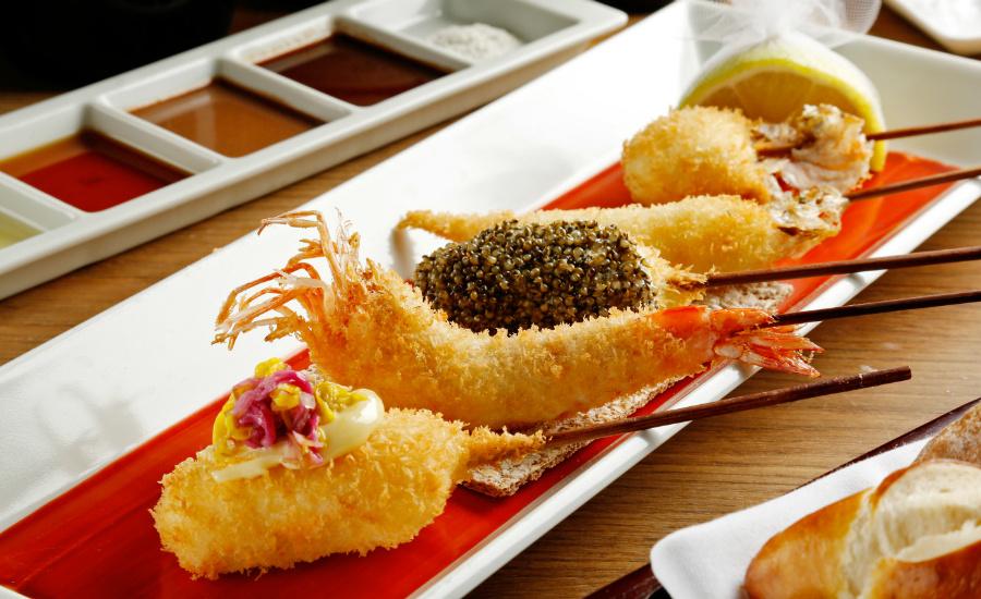 Unique Japanese food in Singapore: Osaka kushikatsu from Michelin-starred Rokukakutei comes to City Hall