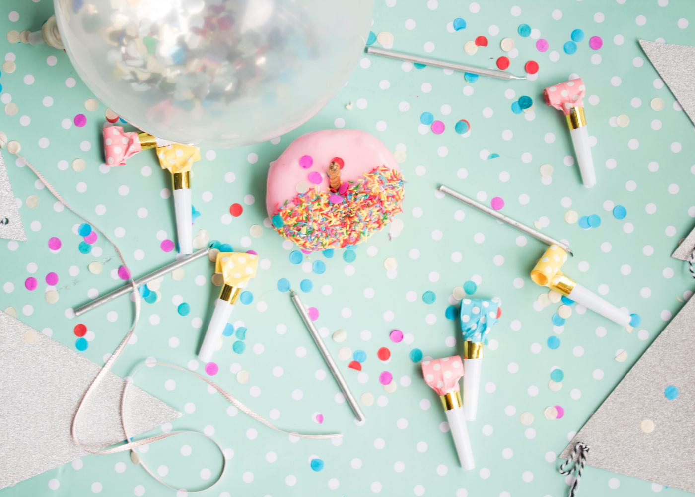 pastel donut sprinklers balloon