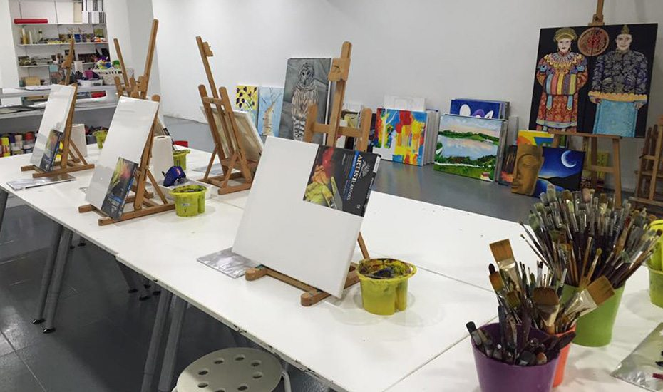 Art jamming in Singapore | cafes and studios for creative painting