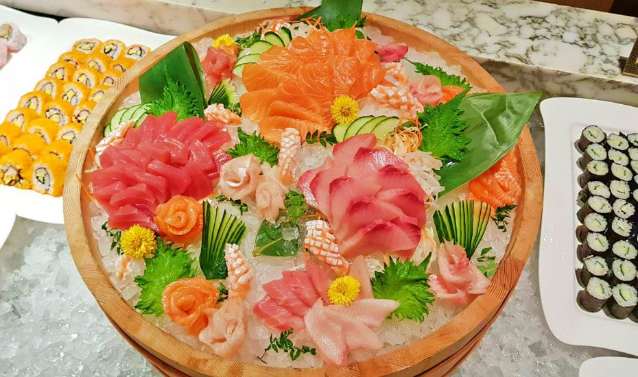 Best seafood buffets in Singapore: Sashimi central at Melt Cafe.