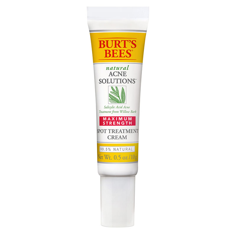 Burt's Bees Natural Acne Solutions Maximum Strength Spot Treatment Cream | Best acne treatments and solutions to target blemishes, pimples and spots