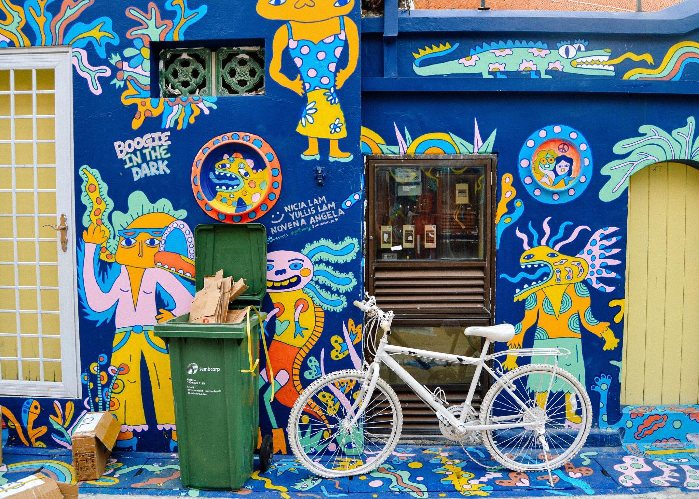 little india street art mural