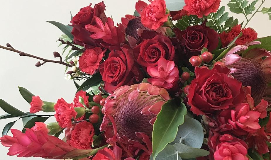 Beverly's Blooms has created this special bouquet for Valentine's Day.