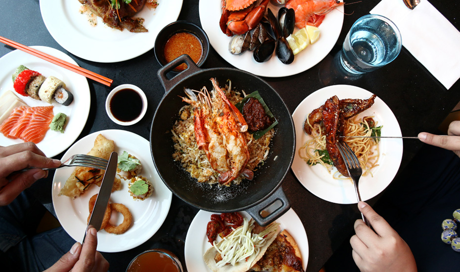 This buffet at Hotel Jen Orchardgateway Singapore serves fun fusion cuisine
