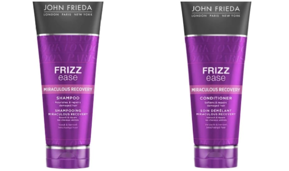 John Frieda Frizz Ease Miraculous Recovery Shampoo Conditioner | How to fight frizzy hair in Singapore