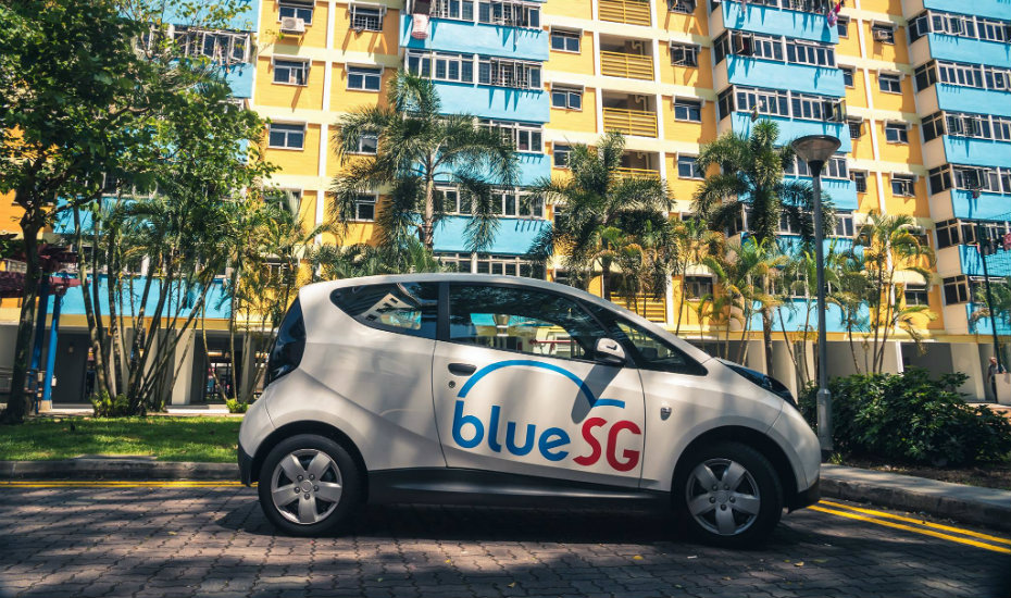 BlueSG brings electric car-sharing to Singapore