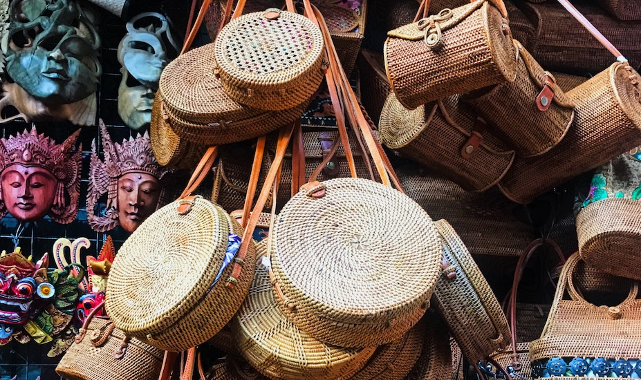 Basket bags in Ubud Art Market Honeycombers Singapore