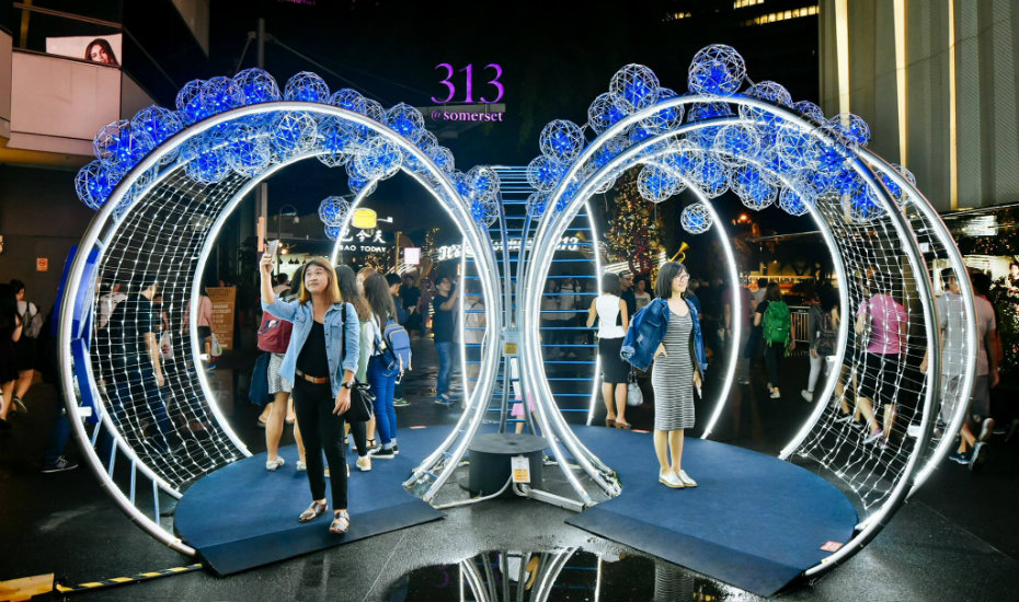 orchard road gets lit for christmas with more lights markets santa and music
