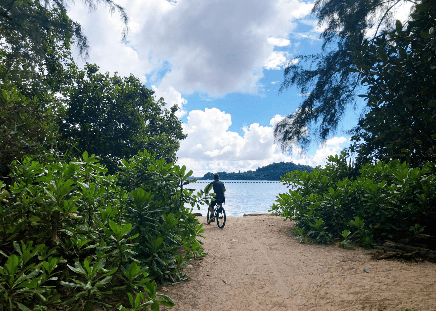 cycling at the beach