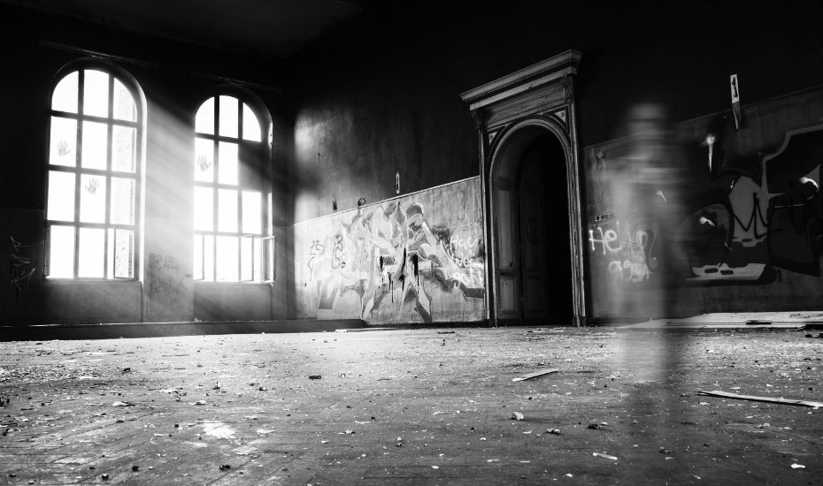 Spaces that have not been occupied for long tend to attract the odd wandering spirit or ghost. Photography: Erik Muller