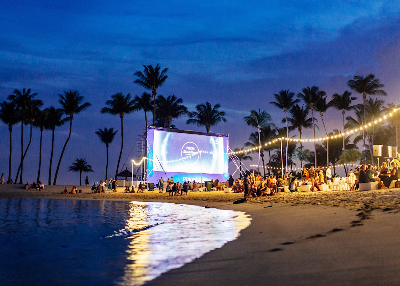 outdoor cinema by the beach