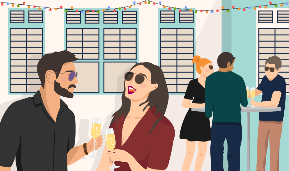 NYE laneway party with Honeycombers, Maggie Joan's restaurant and Vinomofo